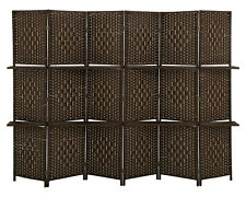 Room divider 6 panel room screen divider wooden screen folding portable