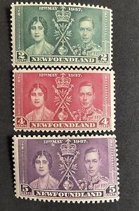 NEWFOUNDLAND 1937 Coronation George VI & Queen Elizabeth KGVI. MLH