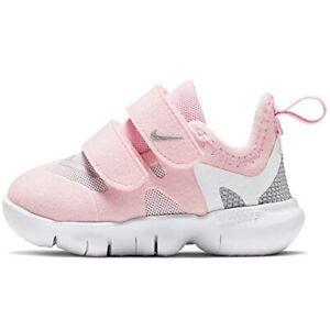 Nike Free Rn 5.0 (TDV) Unisex Toddler Size 7c 7-c Pink Foam /Metallic Silver NEW