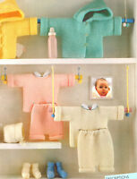 Easy Beginner Garter Stitch Baby  Set Aran  Knitting Pattern