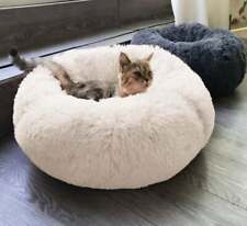 For Cat Bed Cushion Bed Faux Fur Donut Cuddler and Improved Sleep