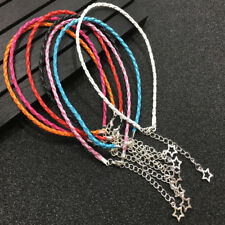 6PCS Handmade Braided Leather Anklet Summer Beach DIY Star Bracelet Jewelry