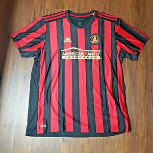 Atlanta United Home Jersey Adidas Men's 2020 Black and Victory Red New Authentic