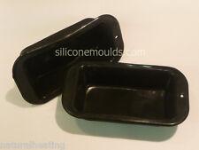 4 x ORANGE Mini Loaf Bread Rolls Cake Silicone Bakeware Mould Tray Tin Pan Mold