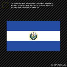 """4"""" Salvadoran Flag Sticker Decal Self Adhesive Vinyl El Salvador SLV SV"""