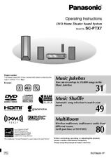 Panasonic SA-PTX7 Home Theater System Owners Instruction Manual