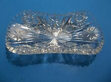 Vintage American Brilliant Period Cut Crystal Relish CELERY Dish