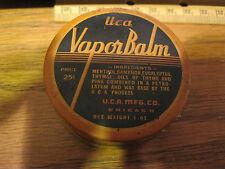 Old Advertising Medicine Tin UCA-Vapor Balm Chicago IL