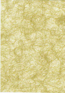 8 A4 Sheets of Olive Gold Shimmer Angel Hair New