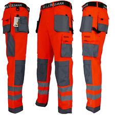 Arbeitshose Bundhose Arbeitskleidung Schutzkleidung Leuchtrot Grau Gr. 46 - 62