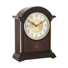 London Clock Co 19cm Dark Wood Break Arch Mantel Clock
