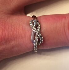 Zales White Gold Infinity Ring ~ Retails for $429!