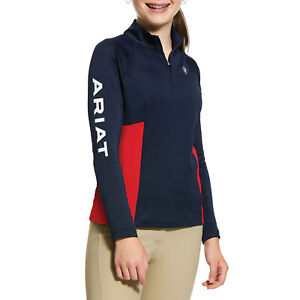 Ariat Sunstopper 2.0 Girls Shirt Competition - Navy All Sizes