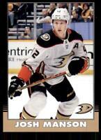 2020-21 UD O-Pee-Chee Retro Black Border #65 Josh Manson /100 - Anaheim Ducks