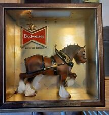 """1950's Budweiser Lighted """" Famous Clydesdale Horse� Sign. Anheuser Busch Inc."""