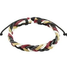 1 Wine Red Braided Leather Bracelet 190 - 250 mm NEW Jewellery from coolbody