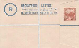 NZS48) New Zealand Registered Envelopes KGV 1936-37 Mitre Peak design 4d Brown