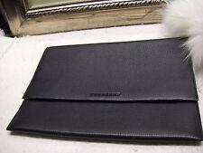 Authentic Burberry London Black Pebbled Leather iPad Sleeve