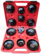 13pc Oil Filter Cap Wrench Cap Type 3 Jaws Oil Filter Remover Installer Tool Set