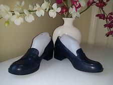 Nine West NewKimmie Dark Blue Leather Loafer Heels Womens Sz.8,5 M