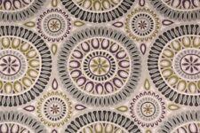 Fabric Richloom Upholstery Drapery Linen Embark Flagstone Medallion OO21