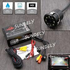 Rear Car Reversing View Camera Backup Parking 8led IR Night Vision Waterproof UK