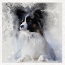 Dog - Papillon tricol Fabric Craft Panels in 100% Cotton or Polyester