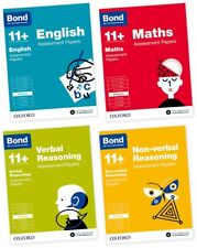 Bond 11+ English, Maths, Non-verbal Reasoning, Verbal Reasoning 8-9 Pack of 4