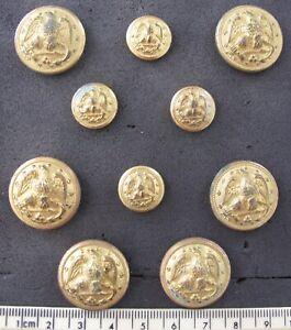 Ten ( 10 ) US Navy uniform buttons