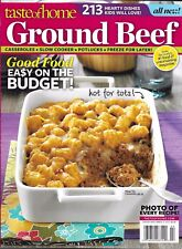 Taste Of Home Magazine Ground Beef Casseroles Slow Cooker Potluck Burgers Soups