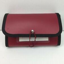 Coupon Pocket File Accordion Organizer Red Holder