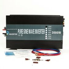 3000W fuera red inversor de onda senoidal pura inversor de potencia de 12V/24V a 220/240V coche