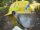 FIRE FIGHTER HELMET for FIRE LIEUT with Faceshield & Neck Protector & Chin Strap