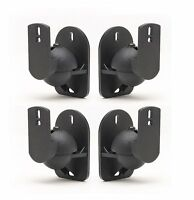 Universal Bose Jewel Cube Speaker Wall Mount Stand Bracket (4 Pack) Black