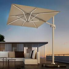 Ombrellone giardino 2x3 palo laterale antracite con telo idrorepellente bianco