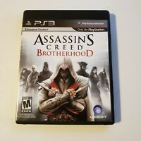 Assassin's Creed: Brotherhood (Sony PlayStation 3, 2010) PS3 Complete w/ Manual