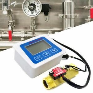 Digital Turbine Durchflussmesser für Chemikalien Wasser Ölzähler Messer Gerät DE