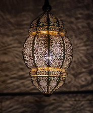 Handmade Vintage Look Moroccan Metal Ceiling Light Fixture Hanging Lantern Lamps