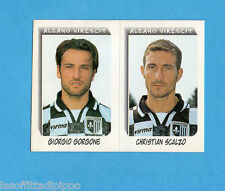 PANINI CALCIATORI 2000- Figurina n.490- GORGONE+SCALZO -ALZANO VIRESCIT-NEW