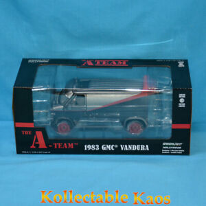 1:24 Greenlight - A-Team 1983 GMC Vandura Weathered Version with Bullet Holes