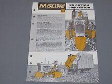 Vintage Minneapolis Moline ZO Cotton Harvester Picker Sales Brochure Catalog '61