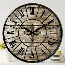 Vintage Style Wall Clock Round Art Home Decor Roman Numbers Watches Large 38cm