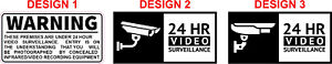 4, 6 or 8 pack Security Camera Surveillance warning CCTV Stickers Warning