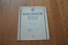 Marconiphone Model 347 & 647  6 Valve All-Wave A.C Superhet Genuine Manual