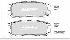 Holden Rodeo Rear Brake Pads DB1280 AC Delco ACD1280 Jackaroo Frontera Isuzu MU