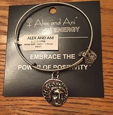 Alex and Ani Energy Bracelet Silver Byzantine Helios Coin Bangle RARE NWT