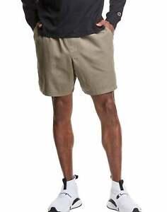 Champion Men's Shorts Garment-Dyed Twill 7 in Inseam Lightweight Slim Fit XS-2XL