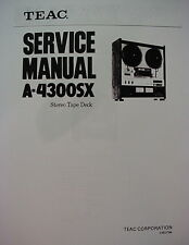 Teac A-4300Sx Tape Deck Service Manual 44 Pages