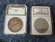 1991 & 1992 GRADED SILVER EAGLES (MS-68 & MS-69)