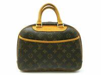 Authentic LOUIS VUITTON Monogram Trouville M42228 Hand Bag PVC Leather 87007